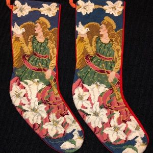 Fine Needlepoint Victorian 🎄Christmas Stockings🎄